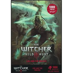 Witcher: Witcher 3 Wild Hunt Puzzle Ciri and the Wolves