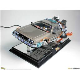 Back To The Future: Back to the Future II Floating Model with Light Up Function DeLorean Time Machine 22 cm