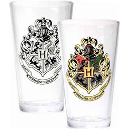 Harry Potter Cold Changing Glass Hogwarts Crest