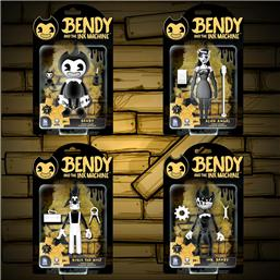 Bendy and the Ink Machine: Bendy, Alice, Boris, Ink Bendy Action Figure Set