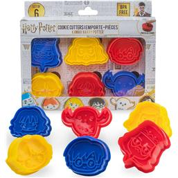 Harry Potter: Harry Potter Cookie Cutter / Cookie Stamp 6-Pack Kawaii
