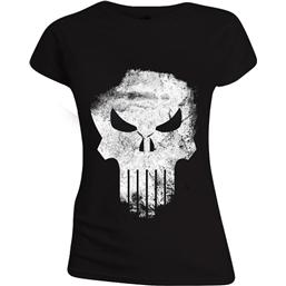 Punisher: The Punisher Ladies T-Shirt Distressed Skull