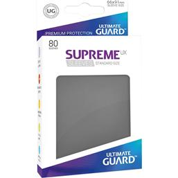 Diverse: Ultimate Guard Supreme UX Sleeves Standard Size Dark Grey (80)