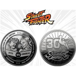 Street Fighter: Street Fighter Collectable Coin 30th Anniversary Ryu vs Chun-Li (silver plated)