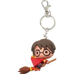 Harry Potter: Harry Potter Rubber Keychain Harry Potter & Broomstick 7 cm