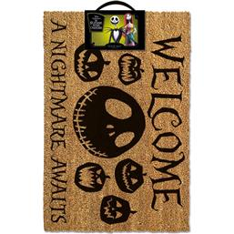 Nightmare Before Christmas: Nightmare before Christmas Doormat A Nightmare Awaits 40 x 60 cm