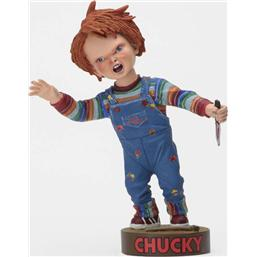 Child's Play: Child´s Play Head Knocker Bobble-Head Chucky with Knife 18 cm
