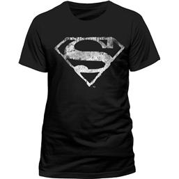 Superman T-Shirt Logo Mono Distressed