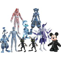 Kingdom Hearts: Kingdom Hearts Select Action Figures 18 cm 9-Pack Series 3
