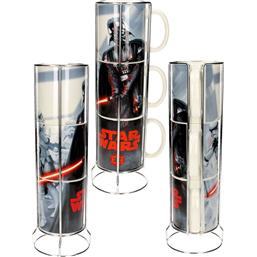 Star Wars Stackable Mugs Set Darth Vader & Stormtroopers