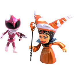 Power Rangers: Mighty Morphin Power Rangers Action Vinyl Figures 2-Pack Metallic Rita vs Pink Ranger 8 cm