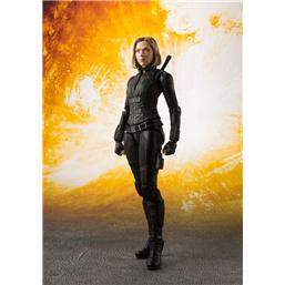 Avengers Infinity War S.H. Figuarts Action Figure Black Widow & Tamashii Effect Explosion 15 cm