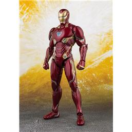 Avengers: Avengers Infinity War S.H. Figuarts Action Figure Iron Man MK 50 & Tamashii Stage 16 cm