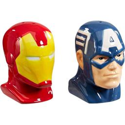 Marvel Comics POP! Home Salt and Pepper Shakers Iron Man & Captain America