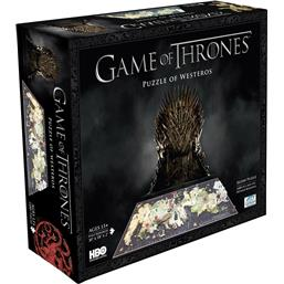 Game Of Thrones: Westeros 3D puslespil (1400 brikker)