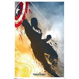 Captain America: The Winter Soldier - Art Deco plakat