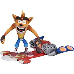 Crash Bandicoot Action Figure Deluxe Hoverboard Crash Bandicoot 14 cm