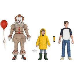 Stephen King's It 2017 Action Figures 3-Pack Pennywise, Bill, Georgie 10 cm
