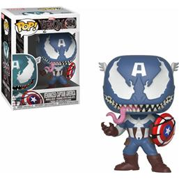 Venomized Captain America POP! Marvel Vinyl Bobble-Head (#364)