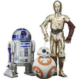Star Wars: Star Wars Episode VII PVC Statue 3-Pack 1/10 C-3PO & R2-D2 & BB-8