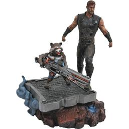 Avengers: Avengers Infinity War Marvel Premier Collection Statue Thor & Rocket Raccoon 30 cm