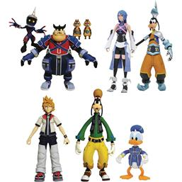Kingdom Hearts: Kingdom Hearts Select Action Figures 18 cm 9-Pack Series 2