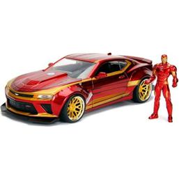 Iron Man: Marvel Diecast Model 1/24 Iron Man & 2016 Chevrolet Camaro