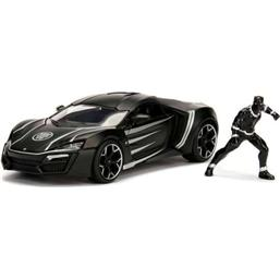 Black Panther: Marvel Diecast Model 1/24 Black Panther & 2017 Lykan Hypersport