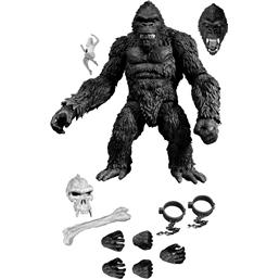 King Kong: King Kong Action Figure King Kong of Skull Island Previews Exclusive Black & White Version 18 cm