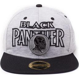 Black Panther: Black Panther Movie Snap Back Baseball Cap Metal Badge