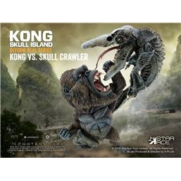King Kong: Kong Skull Island Deform Real Series Soft Vinyl Statue Kong vs Crawler 23 cm