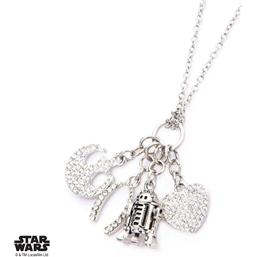Star Wars: Star Wars Stainless Steel Pendant with Chain R2-D2 Multi Charm