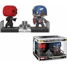 Marvel POP! Movie Moments Vinyl Bobble-Head 2-Pak Captain America & Red Skull 9 cm