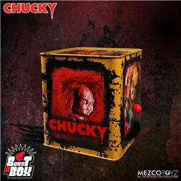 Child's Play: Bride of Chucky Burst-A-Box Music Box Scarred Chucky 36 cm