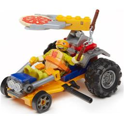 Teenage Mutant Ninja Turtles: Teenage Mutant Ninja Turtles Mega Bloks Construction Set Mikey Pizza Racer