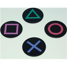 Sony Playstation: PlayStation Icons Bordskåner 4-Pak