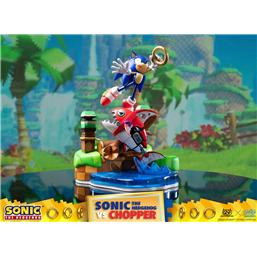 Sonic The Hedgehog: Sonic Generations Diorama Sonic vs Chopper 28 cm