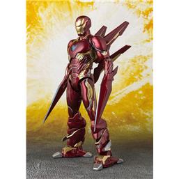 Avengers: Avengers Infinity War S.H. Figuarts Action Figure Iron Man MK50 Nano Weapons Tamashii Web Ex. 16 cm