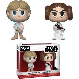 Princess Leia & Luke Skywalker VYNL Vinyl Figurer 10 cm