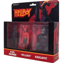 Hellboy ReAction Action Figure 3-Pack Pack A Hellboy w/horns, Karl Kroenen, Kriegaffe Ape 10 cm