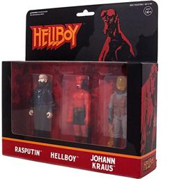 Hellboy ReAction Action Figure 3-Pack Pack B Hellboy w/o horns, Rasputin, Johann Kraus 10 cm