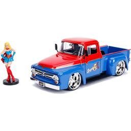 DC Comics: DC Bombshells Diecast Model Hollywood Rides 1/24 1956 Ford F100 with Super Girl Figure