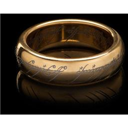 Lord Of The Rings: Lord of the Rings Tungsten Ring The One Ring (gold plated)