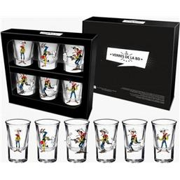 Lucky Luke: Lucky Luke Shotglass 6-Pack Firing Positions