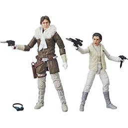 Leia & Han (Hoth) Exclusive Black Series Action Figures 15 cm
