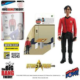 The Big Bang Theory Action Figures with Diorama Set Raj TOS EE Exclusive 10 cm