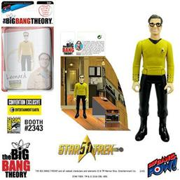 The Big Bang Theory Action Figures with Diorama Set Leonard TOS EE Exclusive 10 cm