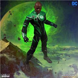 Green Lantern: DC Comics Light-Up Action Figure 1/12 John Stewart - The Green Lantern 17 cm