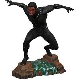 Black Panther: Black Panther Marvel Movie Gallery PVC Statue Black Panther Unmasked 23 cm