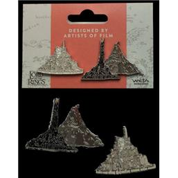 Lord Of The Rings: Minas Tirith & Mt. Doom Collectors Pins 2-Pack